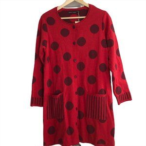 nwt Gundrun Sjoden Celeste Cardigan Sweater Dot M